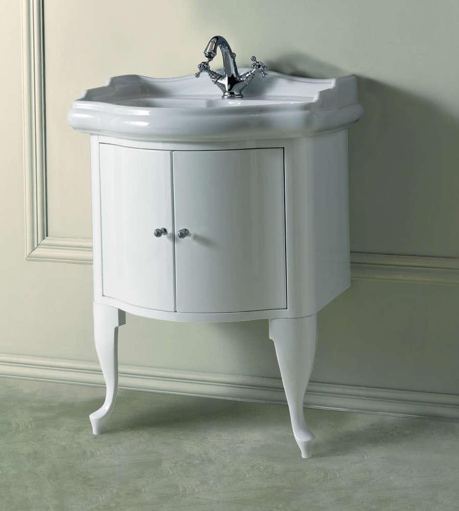 Unterschrank Weiß Für Waschbecken Retro 69 Cm